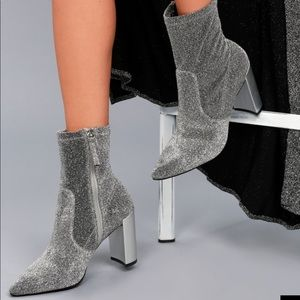 Chinese laundry | SILVER METALLIC  SOCK BOOTS